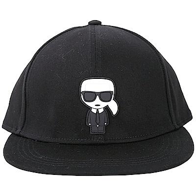 KARL LAGERFELD K/IKONIK Q版老佛爺橡膠補丁棒球帽