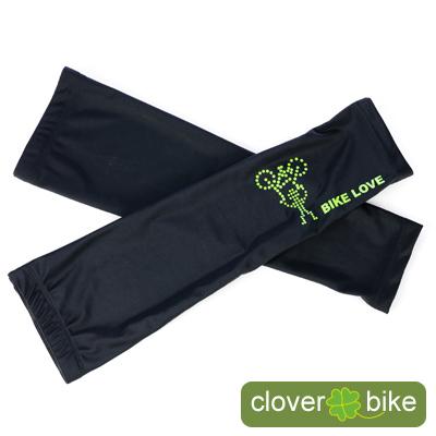 【CLOVER】獨家設計-舉車小綠人自行車專用袖套