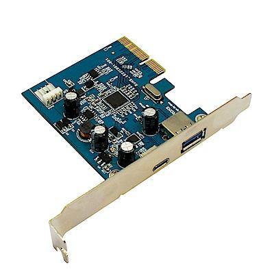 小比科技-超高速擴充卡(USB 3 . 1  PCIEx 4  Type A+C Host)