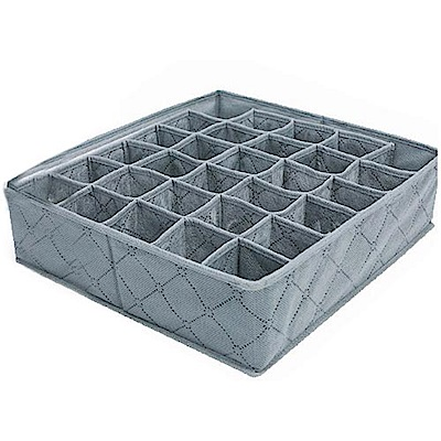 iSFun 竹炭纖維 30格內衣小物收納盒34x32x10cm