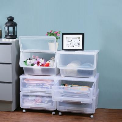 創意達人安居經濟組直取式抽屜可疊收納箱6件組(附輪)