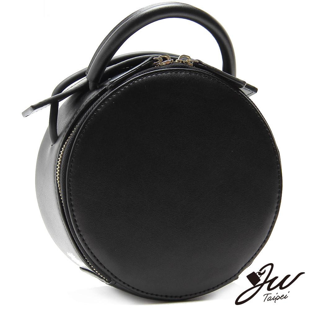 JW真皮首爾設計完美旋律兩用鈴鼓肩提包 經典黑(快)