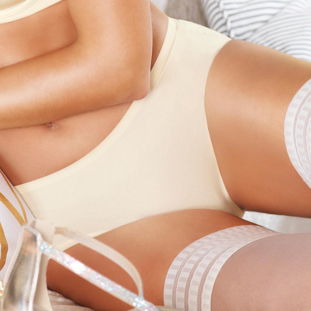 黛安芬-身體底妝呼吸版M-EL平口褲(香頌檸黃)