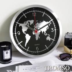 TROMSO風尚義大利金屬時鐘-金屬地圖