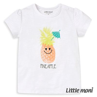 Little moni 鳳梨印圖棉T (2色可選)