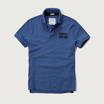 AF a&f Abercrombie & Fitch POLO 藍色 0762