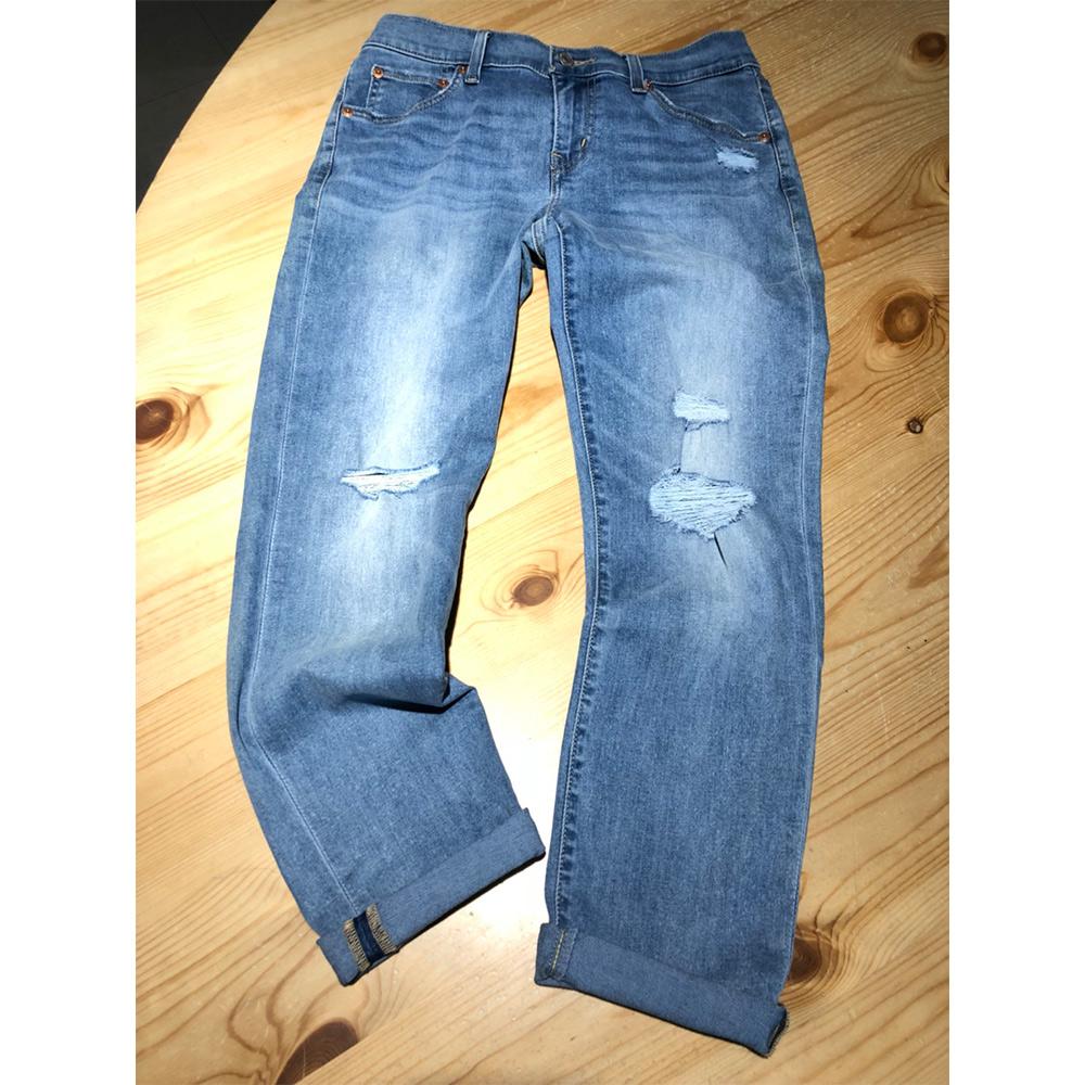 Levis 女款 男友褲 中腰寬鬆版牛仔長褲 Cool Jeans涼感丹寧