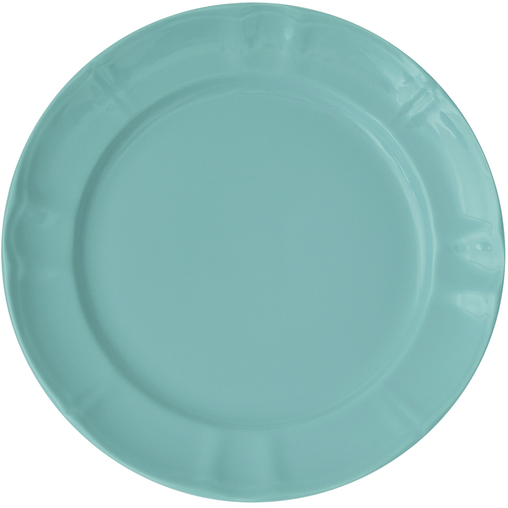EXCELSA Chic陶製淺餐盤(荷綠27cm)