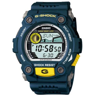 G-SHOCK-超時震撼時空月齡潮汐休閒錶-深藍-52-4mm