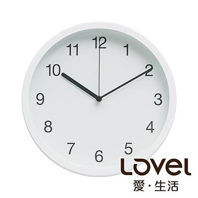 Lovel 25cm摩登膠框靜音時鐘-共2款