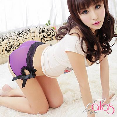 平口內褲 裸肌薄紗性感小褲 (紫色) alas