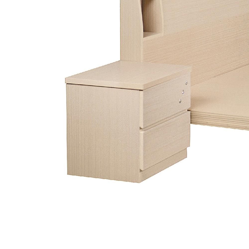 AS-班奈特喜白色床頭櫃-46x40x47cm