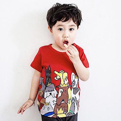 Baby unicorn 紅色小狗塗鴉短袖上衣