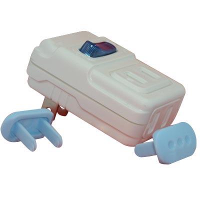 超值兩入安全1開2插15A電源分接器附安全防塵蓋