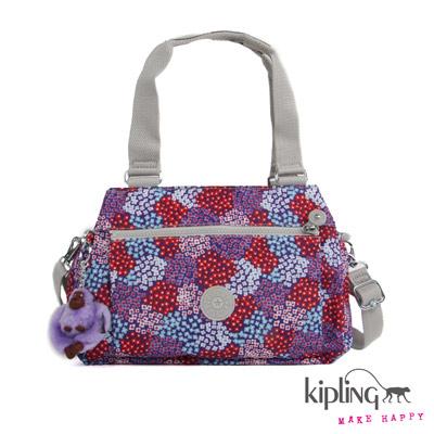 Kipling-手提包-紅紫碎花