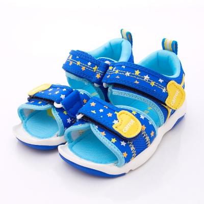日本Carrot機能童鞋-閃耀星星涼鞋款-C20826藍(中小童段)N