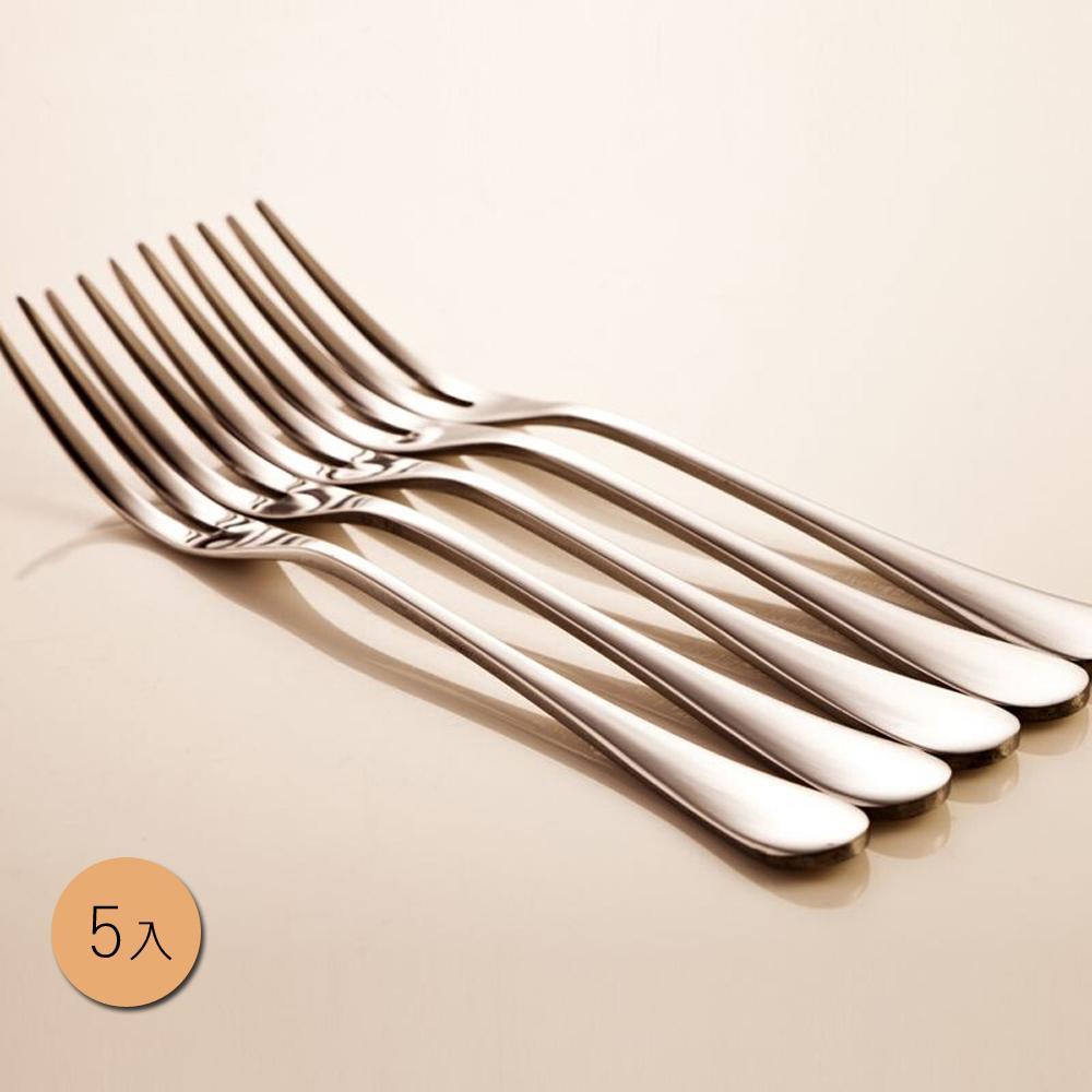 PUSH! 餐具不鏽鋼叉子蛋糕叉水果沙拉叉甜品叉水果籤5入組E33