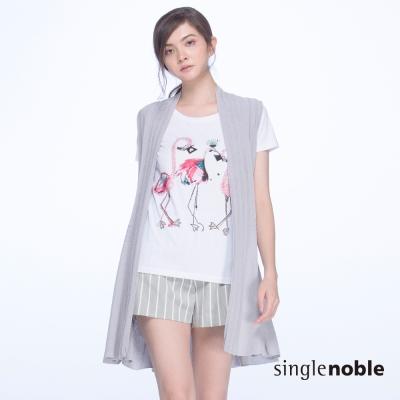 獨身貴族 日系優雅鏤空設計長版針織罩衫(2色)