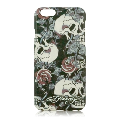 Ed Hardy iPhone 6 / 6s Plus (5.5吋)保護殼-骷髏玫瑰