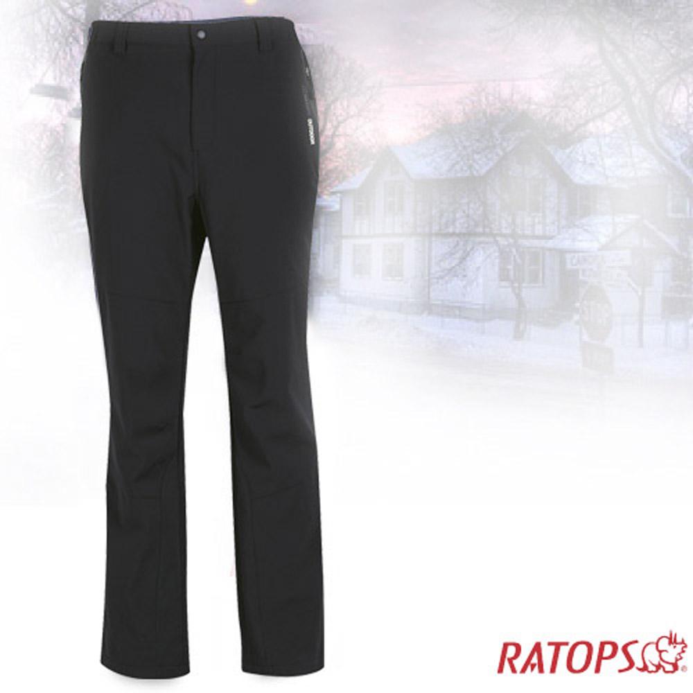【瑞多仕】男款 Softshell 防水透氣保暖長褲_RAS757 黑