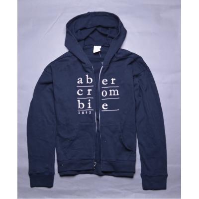 A&F Abercrombie Fitch KIDS金蔥刺繡連帽薄外套-深藍