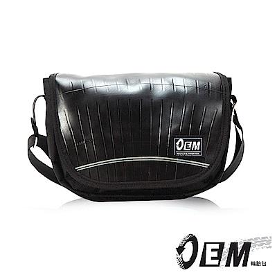 福利品 OEM - 製包工藝革命 低調簡約個性半月型減碳休閒包- 黑色