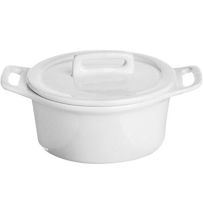 EXCELSA White附蓋瓷烤杯(9.8cm)
