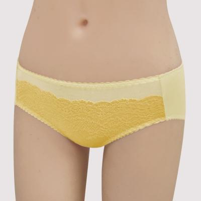 瑪登瑪朵-15AW-我罩妳提托  低腰寬邊三角萊克褲(釉彩黃)