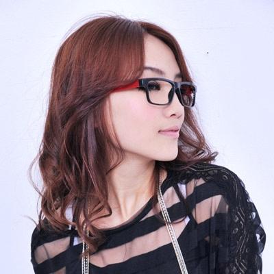 Aimee-Toff-造型鮮色粗板印象膠框眼鏡-紅
