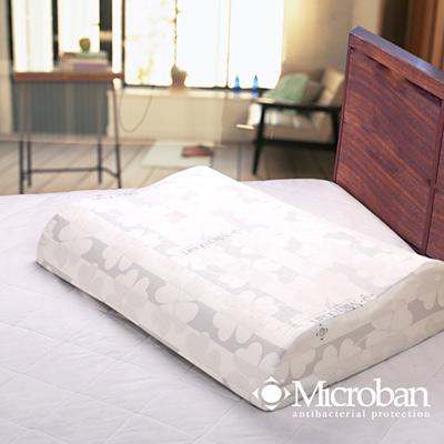 Microban 抗菌波浪人體工學乳膠枕-2入