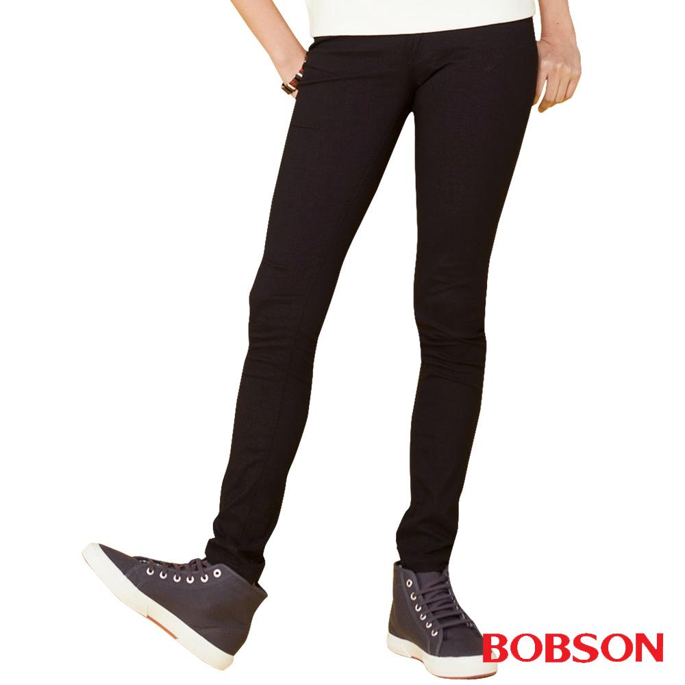 BOBSON 女款亮光紗大彈力緊身褲(黑8111-88)