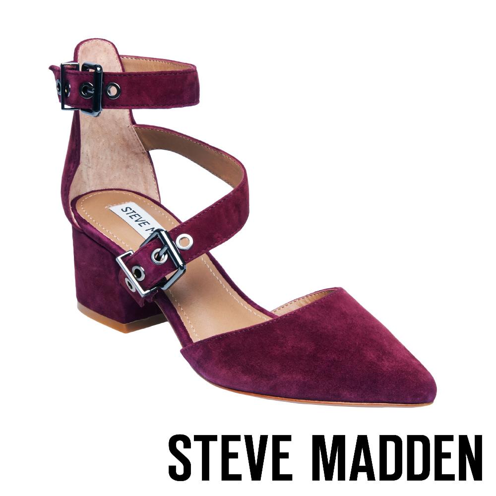 STEVE MADDEN-DIA-BURGUNDY-尖頭中跟鞋-酒紅