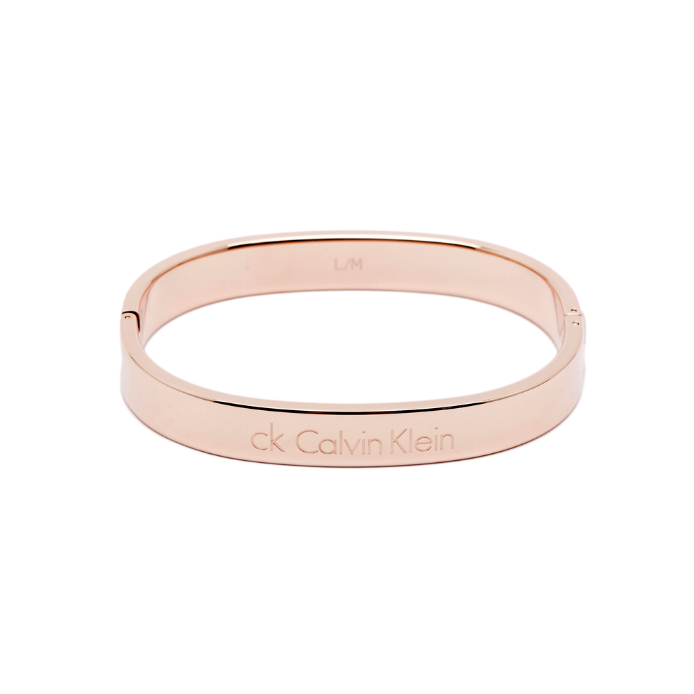 CK Calvin Klein經典極簡時尚手環-玫瑰金色