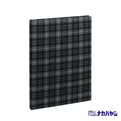日本 Nakabayashi 自黏相本 麻布系列 格紋相本(灰)