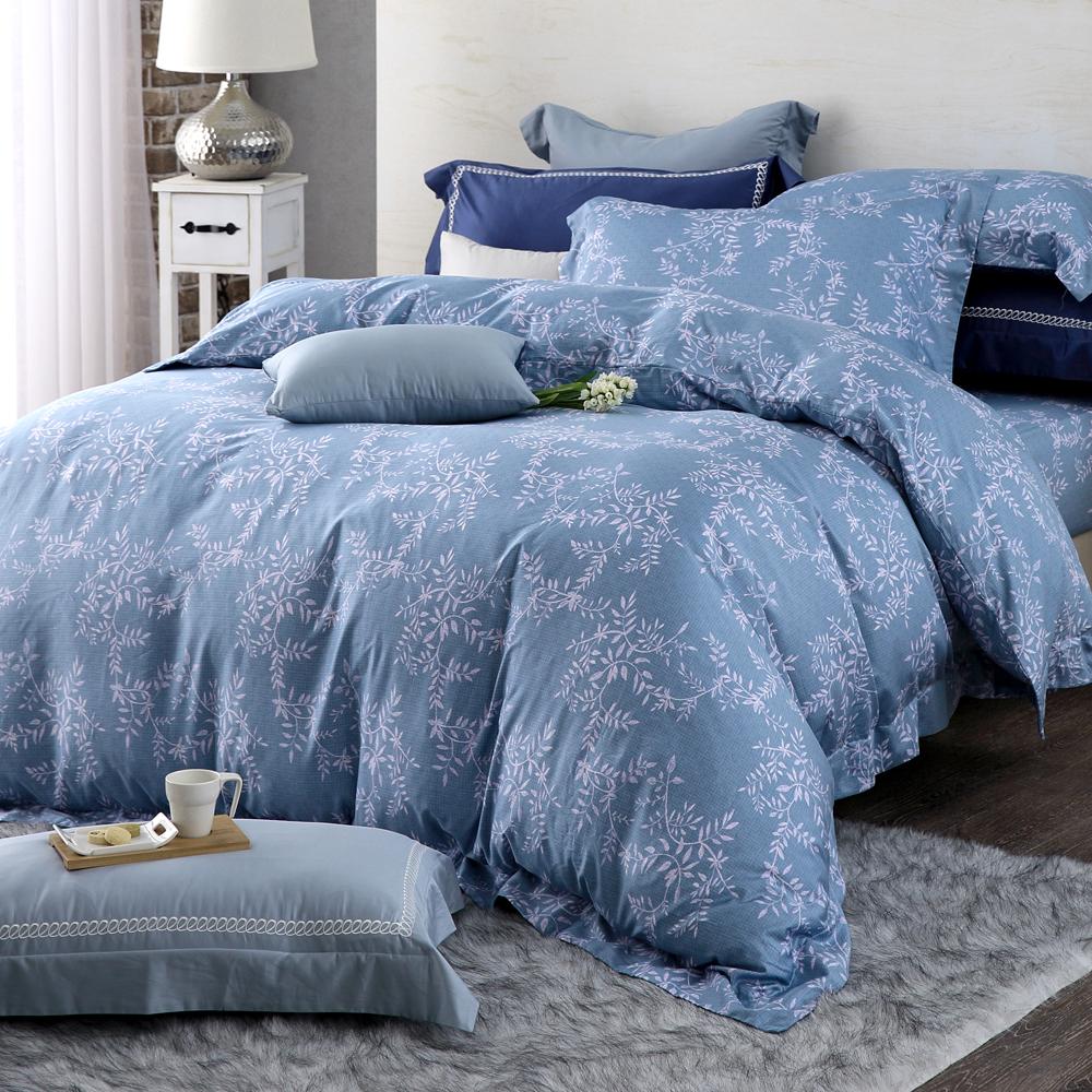 HOYA H Series伊諾克 特大四件式頂級400織匹馬棉被套床包組-贈夏被
