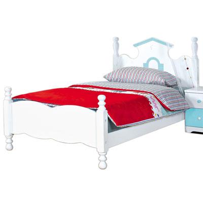 愛比家具 粉藍夢幻城堡3.5尺單人床架(不含床墊)