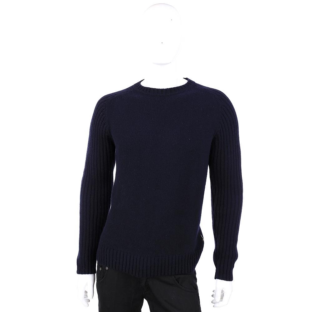 DAKS 美麗諾羊毛粗針織毛衣(深藍色)