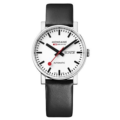 Mondaine 瑞士國鐵 經典機械錶-白/40mm