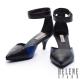 跟鞋 HELENE SPARK 前衛優雅撞色瑪麗珍尖頭跟鞋-黑 product thumbnail 1