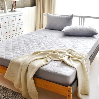 美夢元素 繽紛馬卡龍保潔床墊-加大〈 經典灰〉