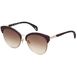 POLICE 鑽石沙 太陽眼鏡 (深咖啡+金色)PE-SPL619