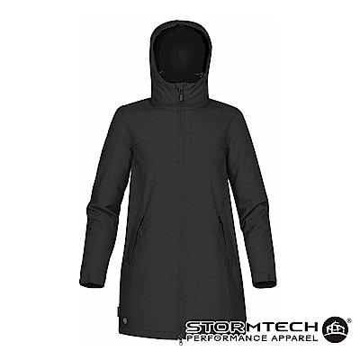 【加拿大STORMTECH】SPK-1W防撥水細刷毛長版機能外套-黑