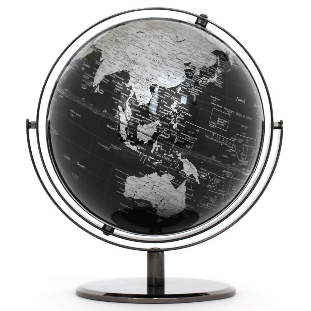 SkyGlobe 10吋精緻黑色360度旋轉地球儀英文版