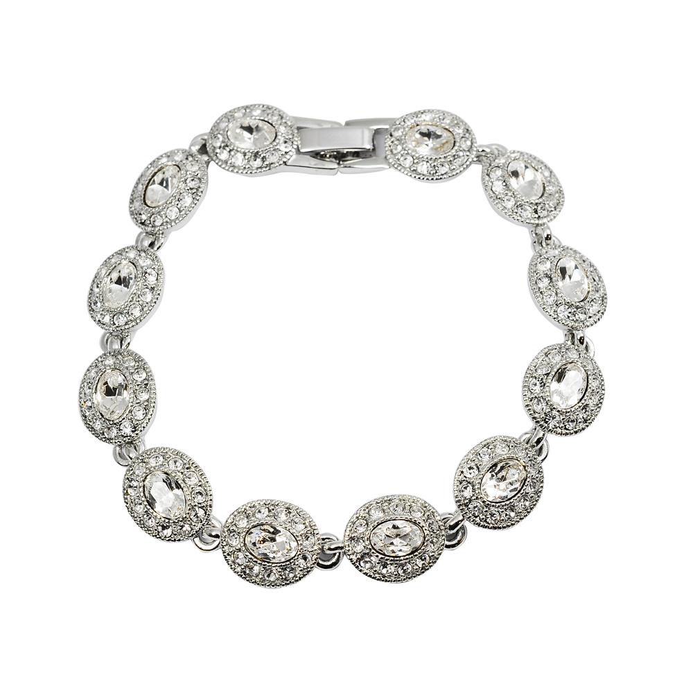 CAROLEE 歐美品牌 復古橢圓晶鑽造型手鍊