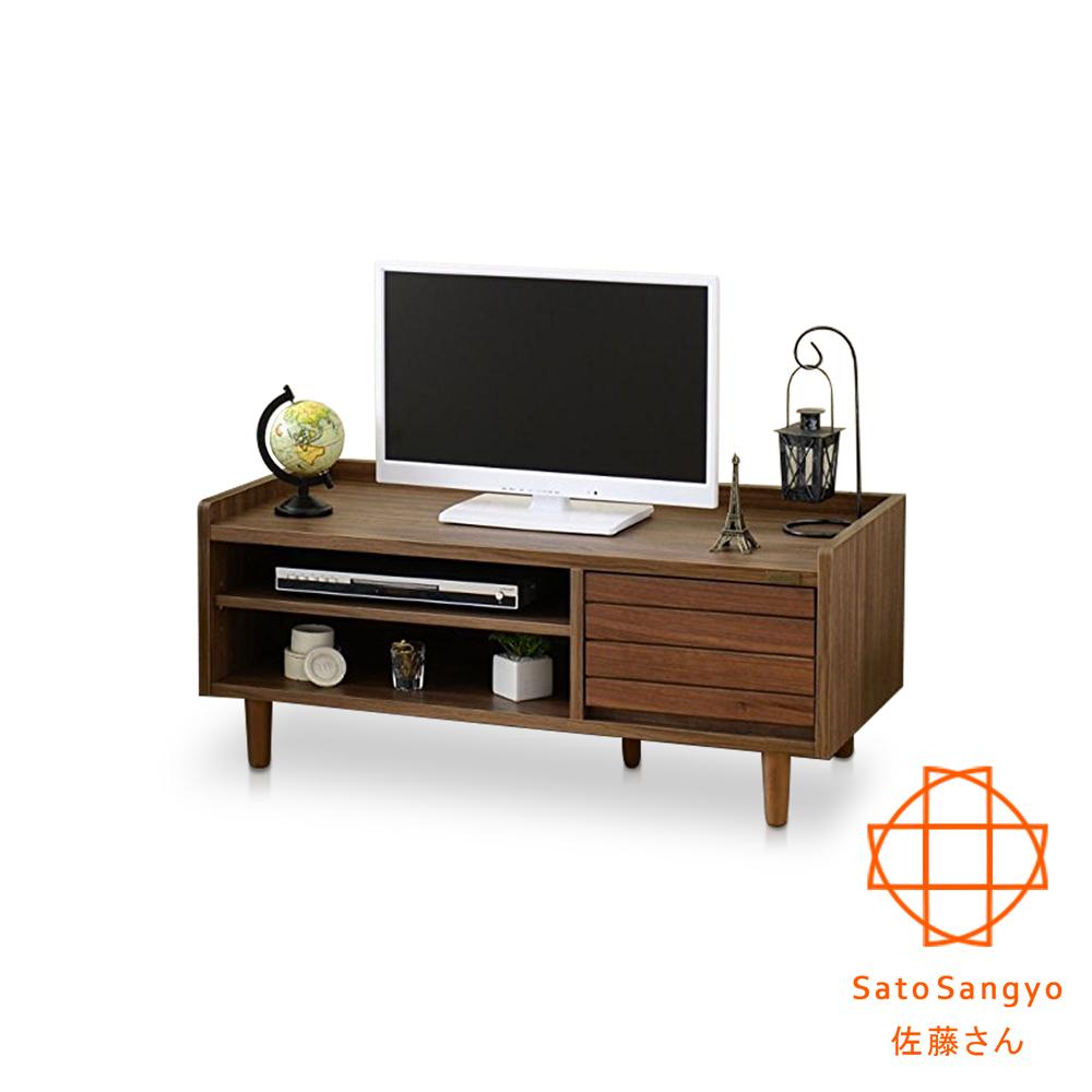 Sato - TWICE琥珀時光單抽開放電視櫃‧幅90cm