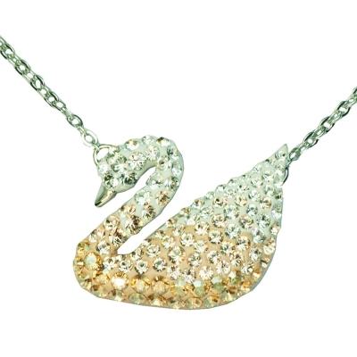 SWAROVSKI 彩色天鵝水晶項鍊