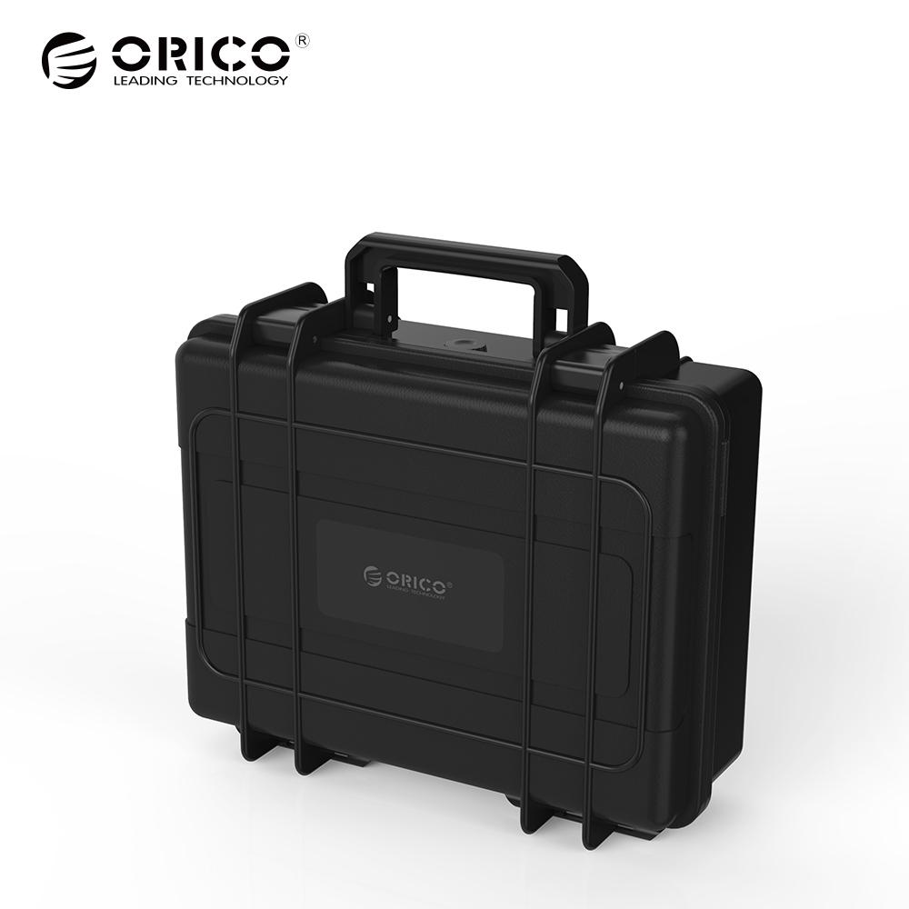 ORICO 3.5吋硬碟ABS工程塑膠保護箱(容納2pcs)-黑 PSC-L2-BK