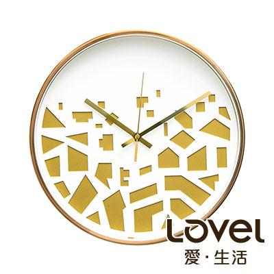 Lovel 30cm 3D立體古銅金框靜音時鐘-共3款