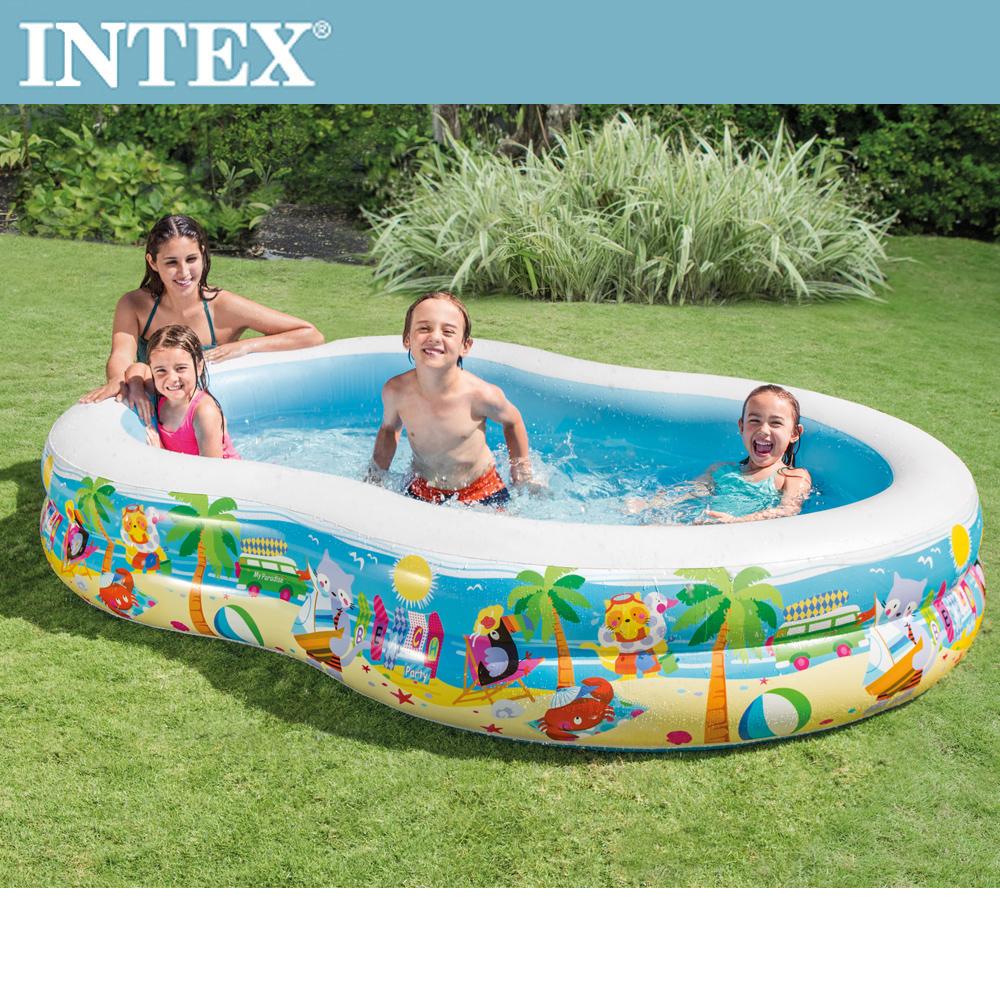 INTEX8字型戲水游泳池 262x160x46cm(640L)適用3歲+(56490)