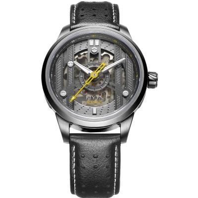FIYTA飛亞達 極限系列車元素機械錶(WGA866002.WHB)-黑色/42mm